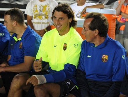 Ibrahimović wreszcie opuści ławkę i będzie mógł zagrać dla Barcy choć kilka minut /AFP
