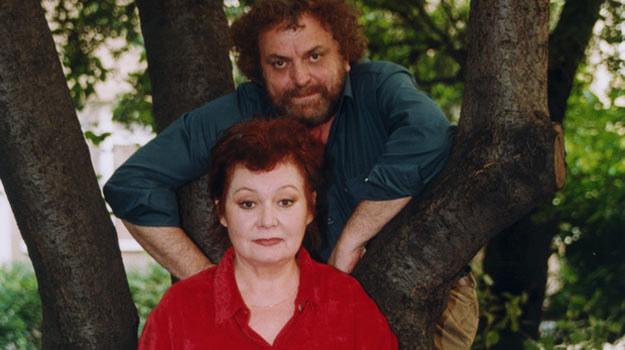 Iga Cembrzyńska z Andrzejem Kondratiukiem w 2001 roku /AKPA