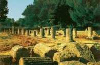 Igrzyska greckie, gimnazjon w Olimpii, II w. p.n.e. /Encyklopedia Internautica