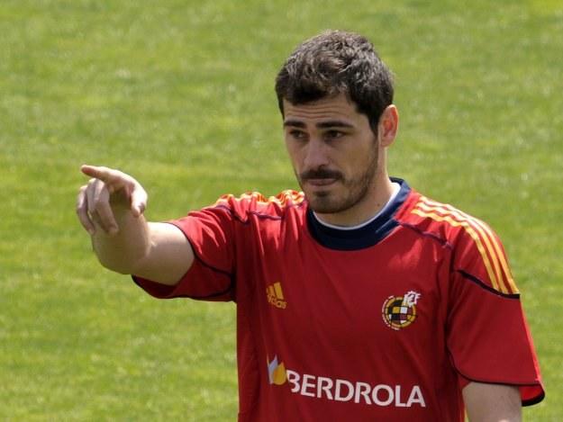 "Iker Casillas wciąż numerem ""jeden"" w bramce Hiszpanii. /AFP"
