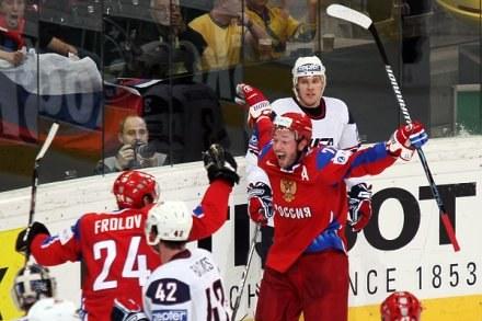 Ilja Kowalczuk strzelił dwa gole w półfinałowym meczu z USA Fot. Tadeusz Bącal /INTERIA.PL