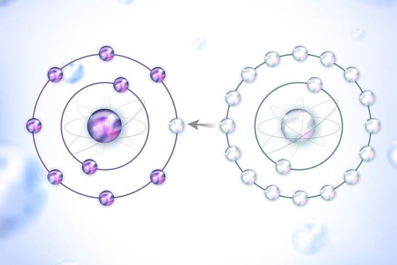 Ilustracja poglądowa: wolny rodnik (po lewej) przyjmuje elektron, przeciwutleniacz (po prawej) przekazuje elektron /123RF/PICSEL