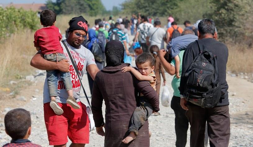 Imigranci na granicy grecko-macedońskiej /EPA/VALDRIN XHEMAJ /PAP/EPA
