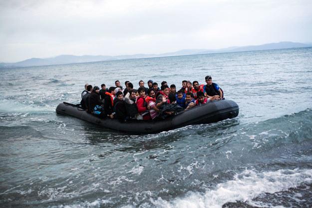Imigranci na Morzu Śródziemnym fot. Angelos Tzortzinis /AFP