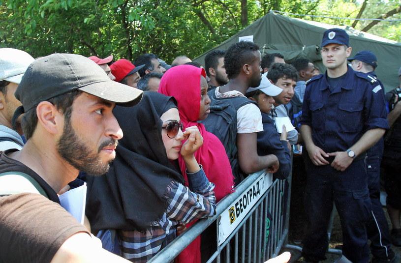 Imigranci próbujący przedostać się do Macedonii (zdj. ilustracyjne) //DJORDJE SAVIC /PAP/EPA