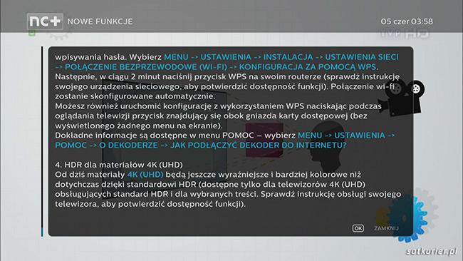 Informacja o dodaniu wsparcia HDR w aktualizacji oprogramowania dekodera 4K UltraBOX+ /materiały prasowe