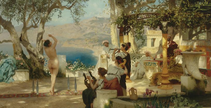 """Inna wersja obrazu """"Taniec wśród mieczów"""" pojawiłą się na aukcji Sotheby's w kwietniu 2011 roku /"""