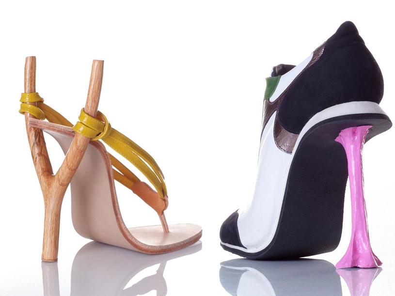 Inspiracją do zaprojektownia obcasa może być wszystko - nawet proca albo guma do żucia  /kobilevidesign.blogspot.com /materiały prasowe