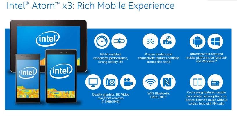 Intel Atom x3: Rich Mobile Experience /materiały prasowe