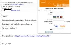 Internetowi oszuści podszywają się pod Orange