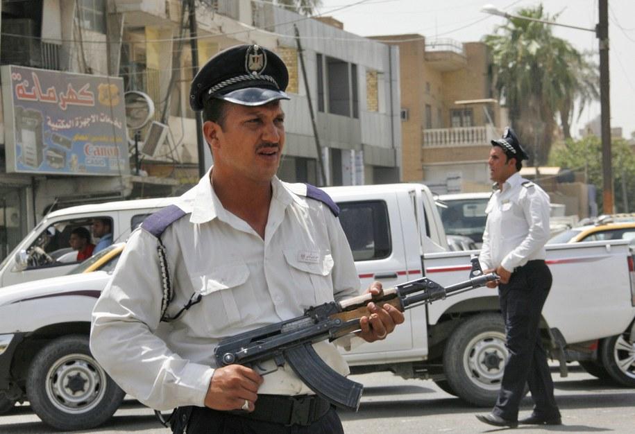 Iracka policja /MOHAMMED JALIL /PAP/EPA