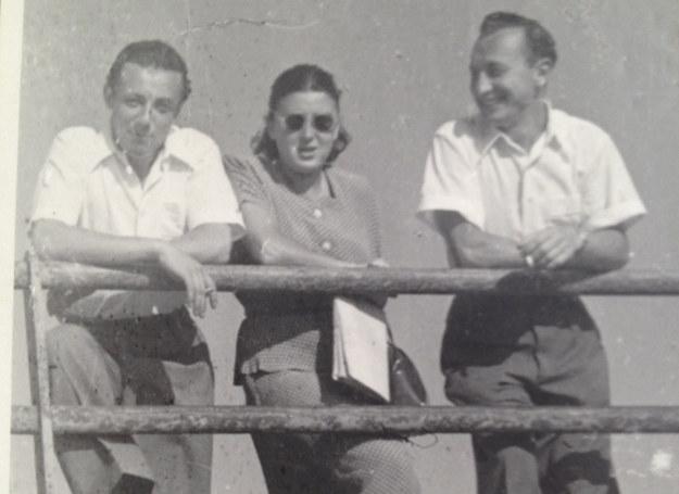 Irena z Kazikiem Ratajzerem i Romkiem Pioterkowskim - mężycznami, którzy ją kochali /archiwum rodzinne Ireny Waniewicz /INTERIA.PL