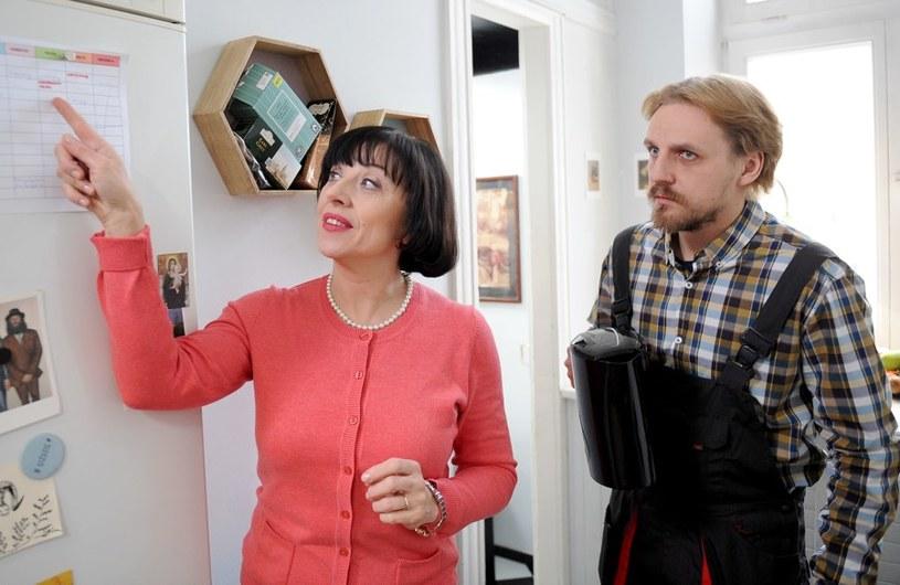 Irenka (Hanna Śleszyńska) i Krzysiek (Paweł Domagała) /Agencja W. Impact