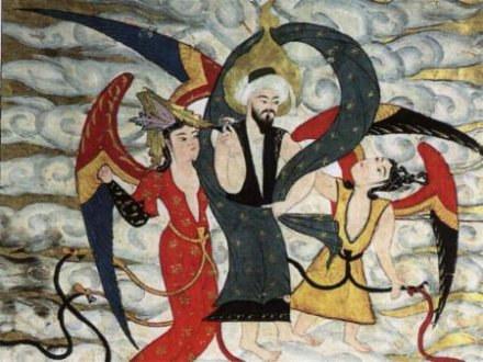 """""""Isa"""" na tureckiej miniaturze wstępuje do nieba na skrzydłach /Archiwum"""