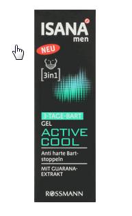Isana Men Active Cool, żel nawilżający do 3-dniowego zarostu /Styl.pl/materiały prasowe