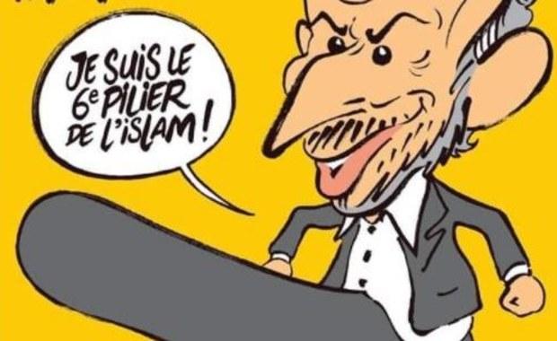"""Islamiści znowu grożą atakiem na """"Charlie Hebdo"""". Nie spodobała im się okładka"""