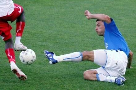 Ivan Djurdjević strzelił gola dla Lecha w meczu z GKP Gorzów /AFP