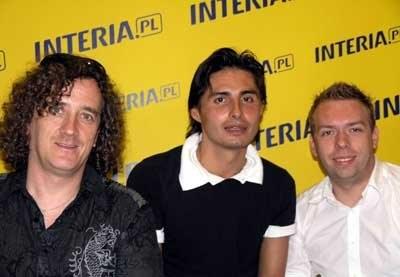 Ivan i Delfin (Łukasz Lazer z prawej, Ivan Komarenko w środku) /INTERIA.PL