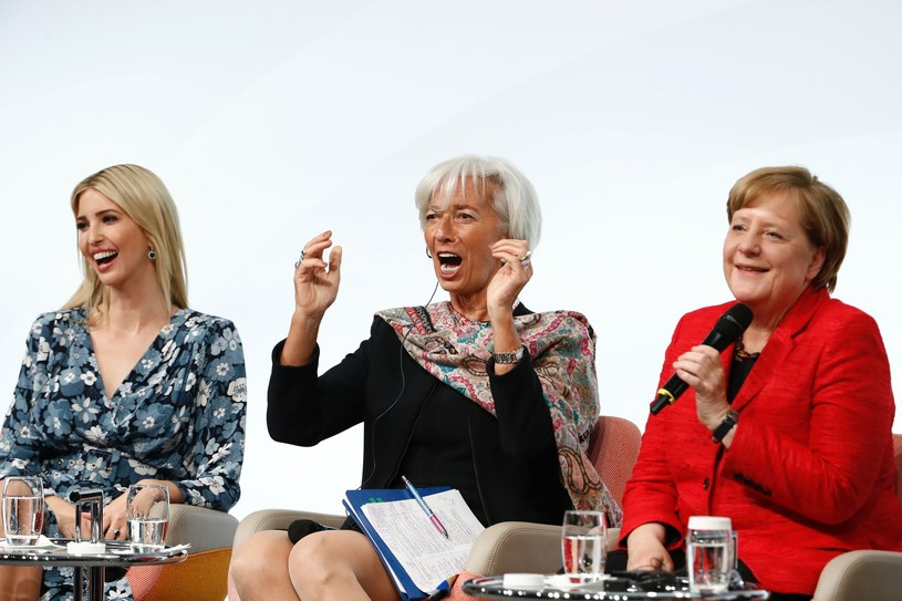 Ivanka Trump, Christine Lagarde i Angela Merkel /AFP