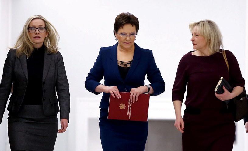Iwona Sulik, Ewa Kopacz i Jolanta Gruszka /TOMASZ GZELL/PAP /PAP