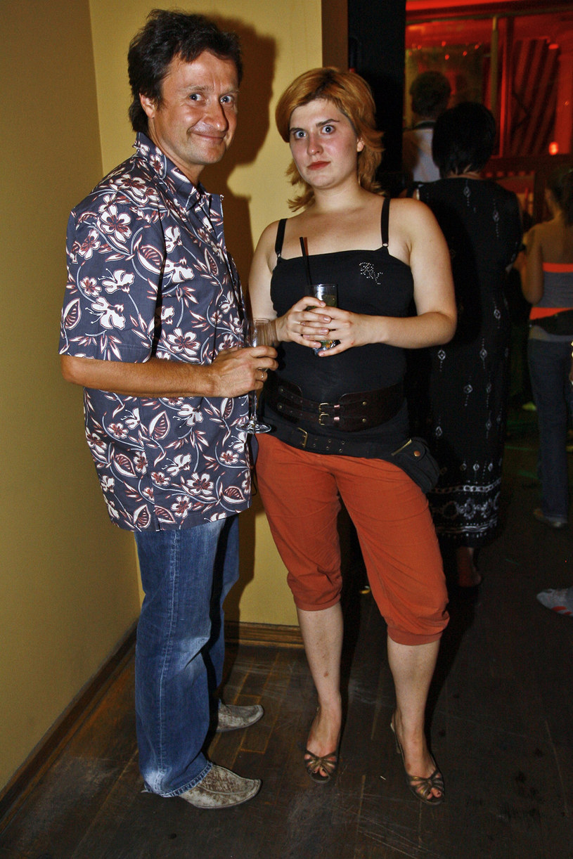 Jacek Kawalec z córką, 2006 rok /Palicki /AKPA