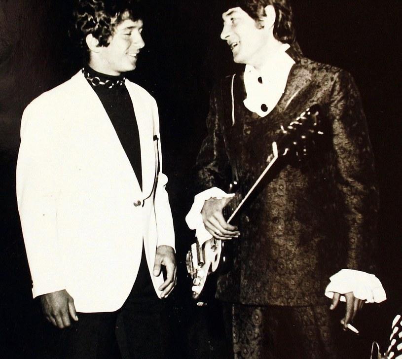 Jacek Lech i Krzysztof Klenczon na Festiwalu w Opolu w 1969 r. /fot. Krzysztof Oresmus/Agencja SE /East News