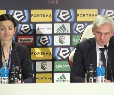 Jacek Magiera, trener Legii, po meczu z Pogonią Szczecin