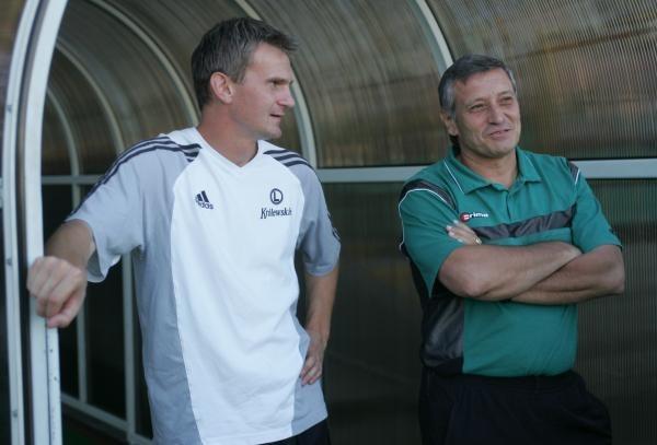 Jacek Magiera (z lewej) znowu zagra w Rakowie/fot. Łukasz Grochala /Agencja Przegląd Sportowy