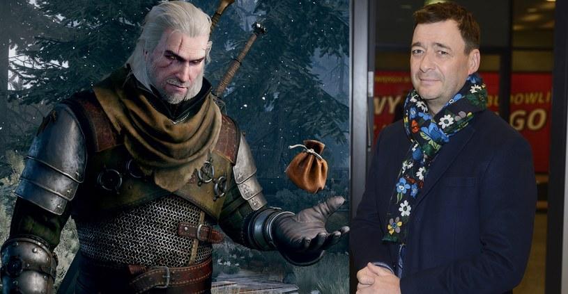 Jacek Rozenek użyczył swojego głosu postaci głównego bohatera gry - Geralta z Rivii. Zdjęcie aktora po prawej - fot. Jarosław Antoniak /MWMedia /MWMEDIA