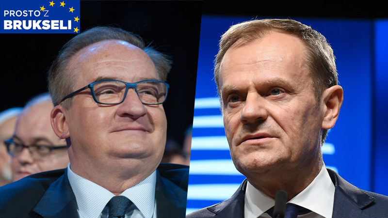 Jacek Saryusz-Wolski i Donald Tusk /AFP