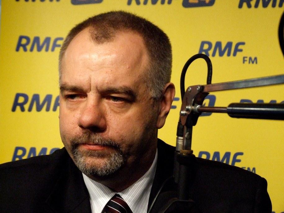 Jacek Sasin w warszawskim studiu RMF FM  /Fot. Olga Wasilewska /RMF FM