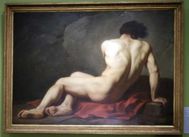 """Jacques-Louis David, """"Académie d'Homme"""" /AFP"""