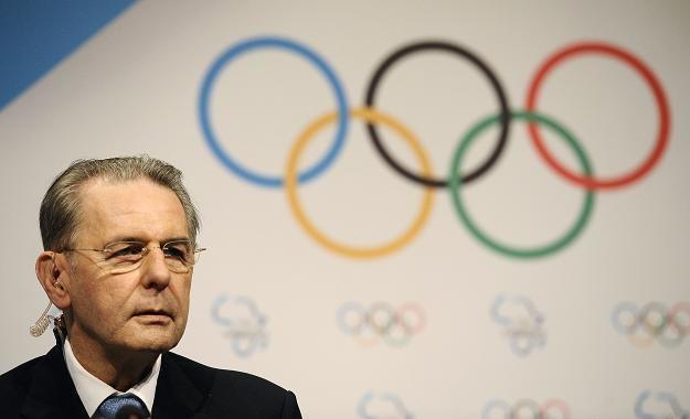 Jacques Rogge, szef Międzynarodowego Komitetu Olimpijskiego /AFP