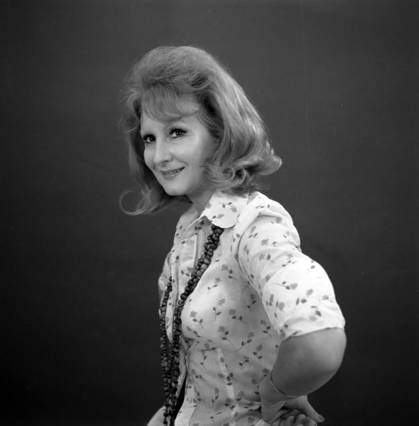 Jadwiga Barańska w 1976 r. /Andrzej Wiernicki /Agencja FORUM