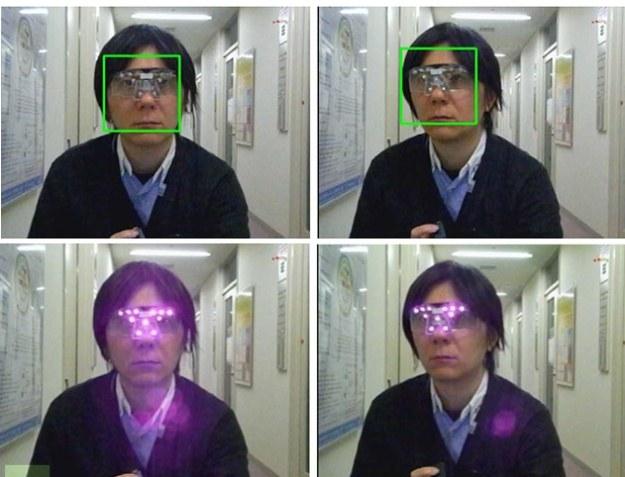 Jak działają okulary chroniące prywatność. Udane zeskanowanie twarzy (góra) - próba nie powiodła się (dół). Zdjęcie Japońskiego Instytutu Informatyki /materiały prasowe