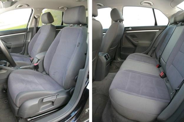Jak w Golfie: idealnie dobrana twardość tapicerki, niezła trwałość i krótki podłokietnik między fotelami kierowcy i pasażera. Większość aut na rynku ma materiałowe obicia. Skóra to rzadko spotykany dodatek. /Motor