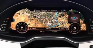 Jak w TT – 12,3-calowy ekran wysokiej rozdzielczości niemal na całej swojej powierzchni może wyświetlać mapę nawigacji. /Motor