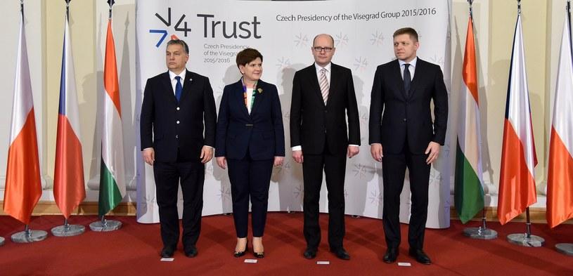 Jakie znaczenie ma dla nas Grupa Wyszehradzka? (Na zdjęciu: Beata Szydło, Viktor Orban, Robert Fico, Bohuslav Sobotka) /Mateusz Jagielski /East News