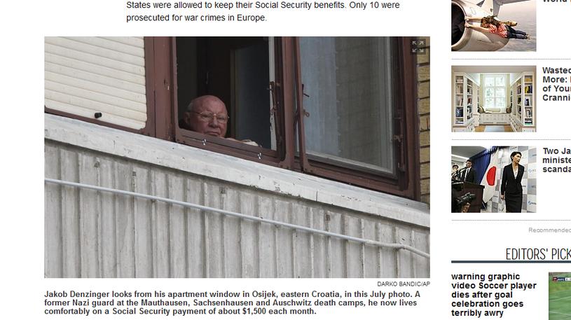 Jakob Denzinger w oknie swojego mieszkania w chorwackim Osijeku /nydailynews.com /