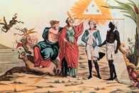 Jakobini, Wszyscy śmiertelnicy są równi, alegoria obrazująca Deklarację Praw Człowieka i Obywa /Encyklopedia Internautica