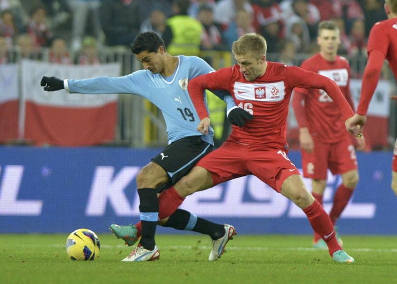 Jakub Błaszczykowski podczas meczu Polska - Urugwaj /Adam Warżawa /PAP