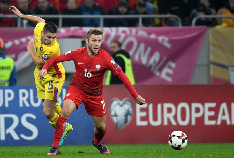 Jakub Błaszczykowski podczas meczu Rumunia - Polska /Bartłomiej Zborowski /PAP