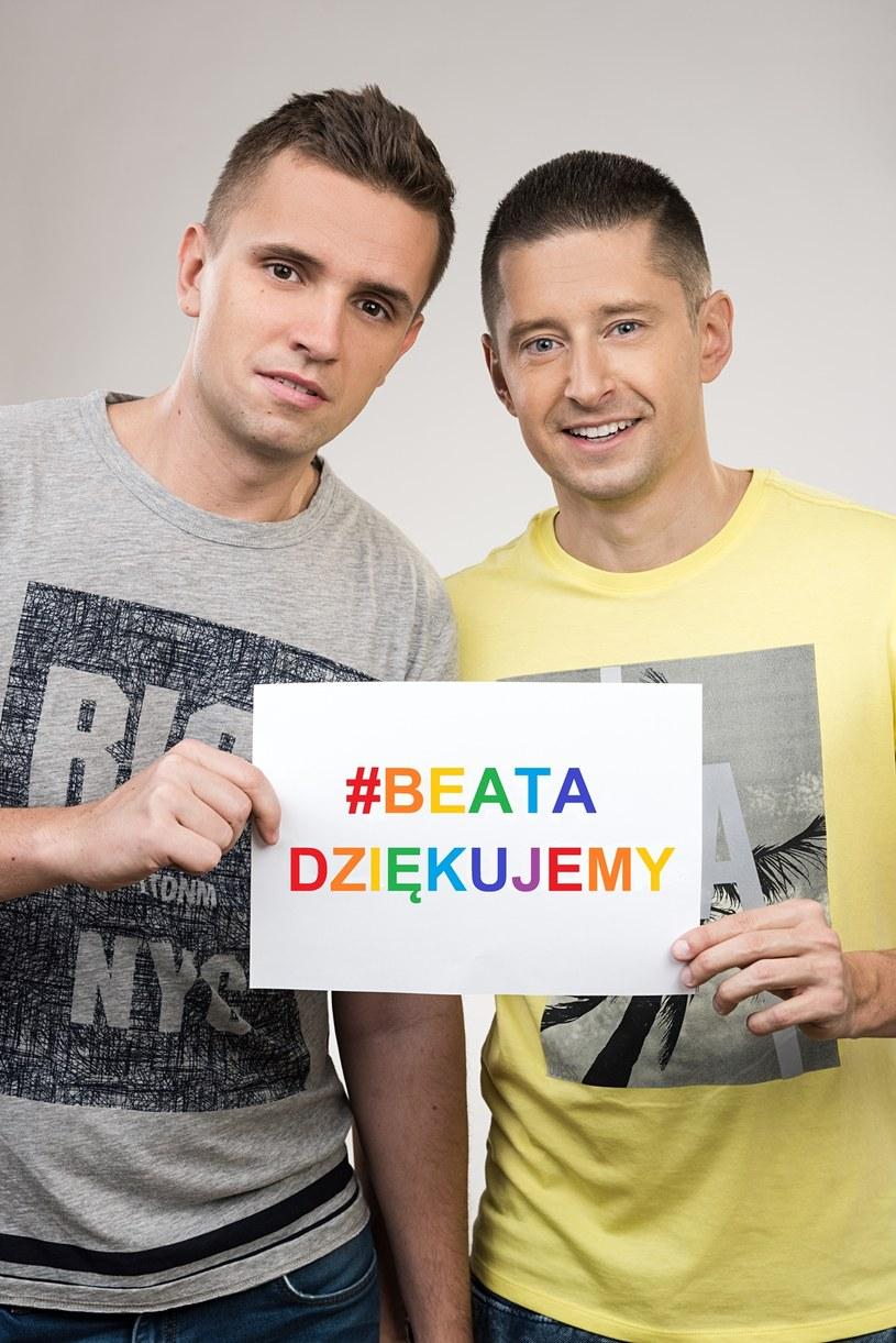 """Jakub i Dawid zaczęli akcję """"#beatadziekujemy"""" /materiały promocyjne"""