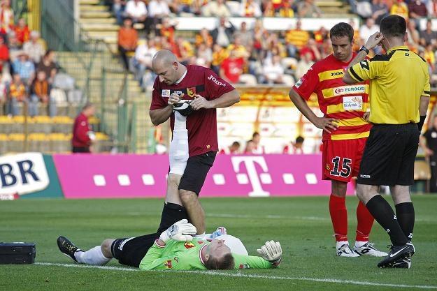 Jakub Słowik doznał kontuzji w meczu z Polonią. Fot. Jakub Słowik /PAP