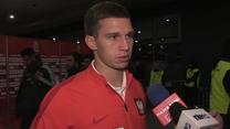 Jakub Świerczok po meczu z Meksykiem (0-1). Wideo