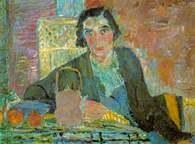 Jan Cybis, Kobieta przy stole, 1932 /Encyklopedia Internautica