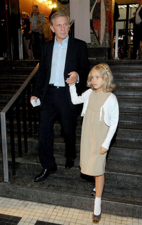 Jan Englert z córką /Agencja W. Impact