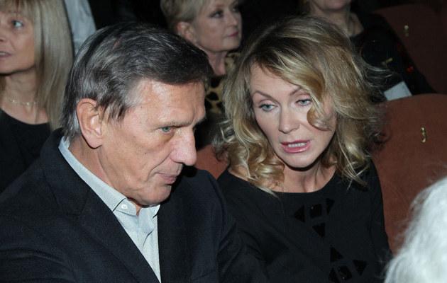 Jan Englert z żoną Beatą /Paweł Wrzecion /MWMedia