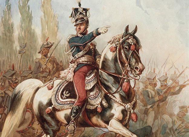 Jan Henryk Dąbrowski na czele Legionów, obraz Juliusza Kossaka /INTERIA.PL
