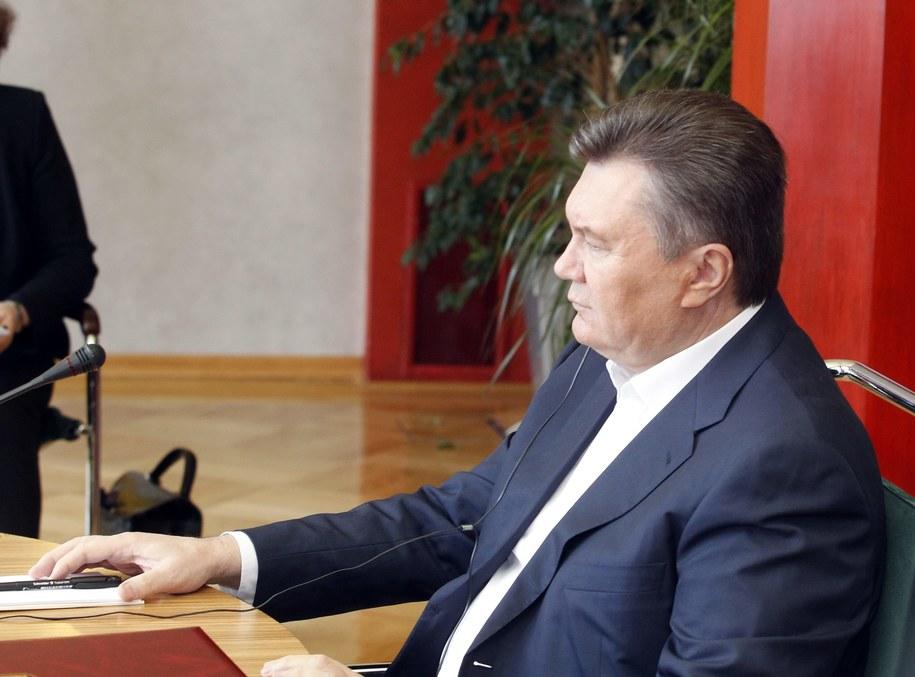 Janukowycz ścigany? Owszem - na Facebooku /Andrzej Grygiel /PAP